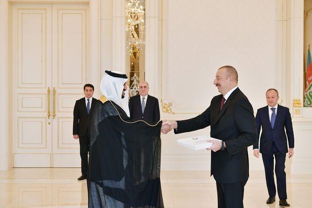 İlham Əliyev səfirlərin etimadnamələrini qəbul etdi
