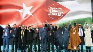 İstanbulda Qüdsə dəstək mitinqi keçirilib