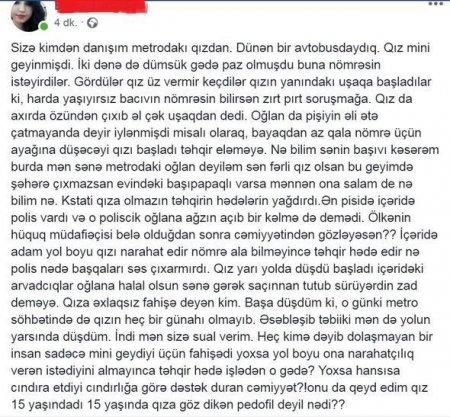 """Şortikə görə tənqid edilən qız indi də """"mini""""də"""
