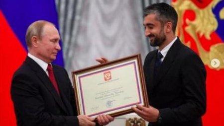 Səmədov mükafata görə Putinə təşəkkür etdi