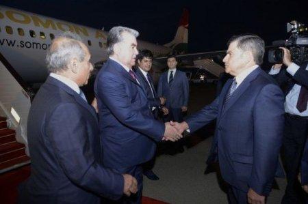 Tacikistan Prezidenti Azərbaycana rəsmi səfərə gəlib