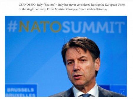 İtaliyanın baş naziri ölkəsinin Avrozonadan çıxma ehtimalı barədə