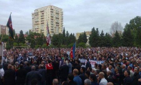 Qarabağ mitinqi başa çatdı