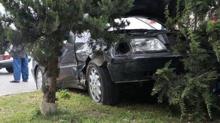 Bakıda avtomobil qəza törətdi