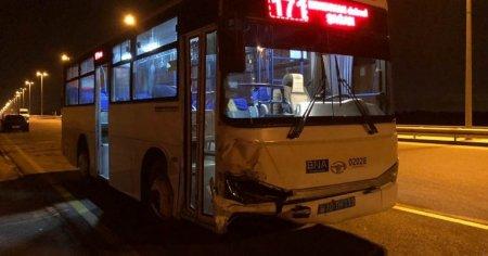 Sərnişin avtobusu maşınla toqquşdu - Daha bir qəza
