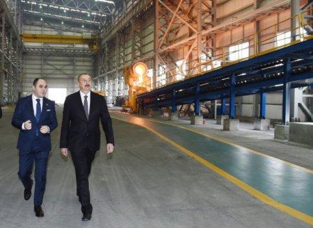 Prezident Sumqayıtda daha bir zavodun açılışını etdi