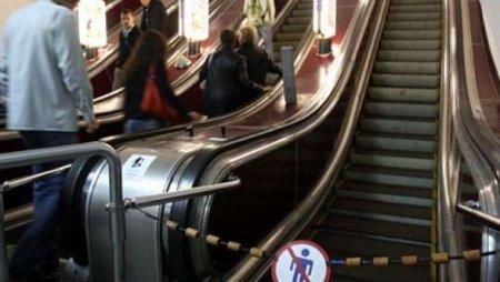 """Metronun """"Sahil"""" stansiyasında həyəcanlı anlar yaşandı"""