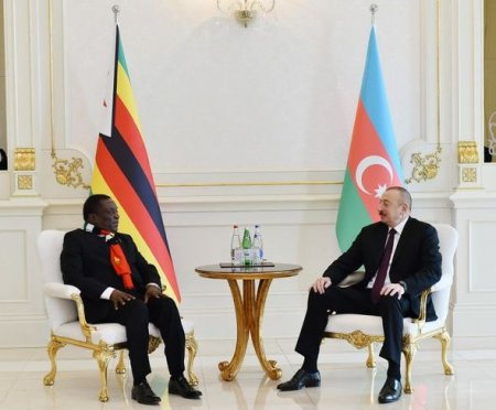 İlham Əliyev Zimbabve prezidenti ilə görüşüb