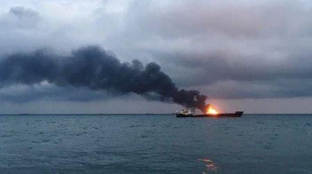 Kerç boğazında iki gəmi yandı: 14 ölü, 17 yaralı