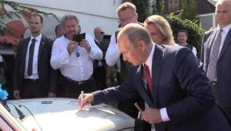 Putinin imzası olan köhnə maşın 20 min avroya satıldı