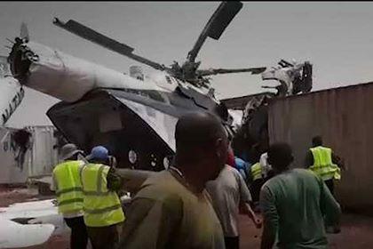 BMT-nin hərbi helikopteri qəzaya uğradı