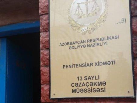 Penitensiar xidmət 13 saylı həbsxanada məhbusların döyülməsi barədə məlumatı təkzib edir